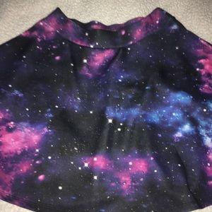 HotTopic galaxy skater skirt (Small Medium)